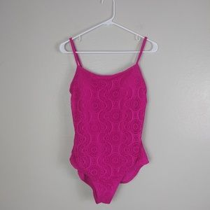 Catalina One-Piece Eyelet Swimsuit Pink New L